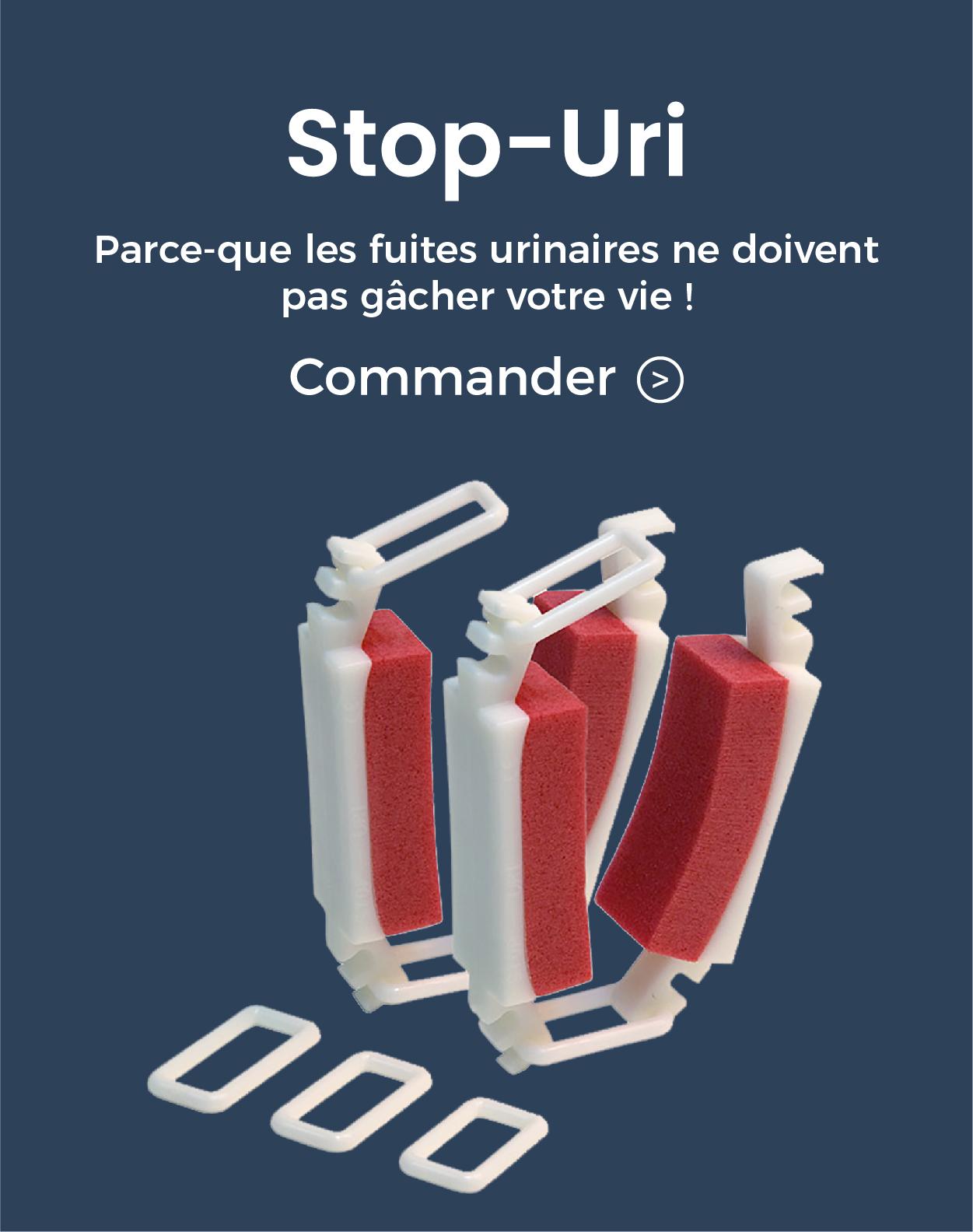 pub stop-uri dispositif medical contre les fuites urinaires pour incontinence homme